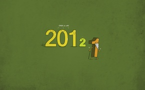 Picture new year, minimalism, figures, 2012