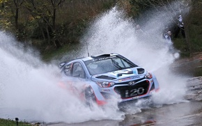 Picture Squirt, Hyundai, WRC, Rally, i20, Ford, Neuville