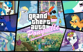 Picture GTA, My little pony, MLP, MLP:FIM, Grand theaft auto, Equestria