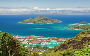 Picture Islands, the city, the ocean, Seychelles, Seychelles, Mahe