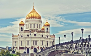 Picture Moscow, Cathedral, temple, Russia, Christ, Vasil Anders, HHS