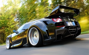 Picture Bugatti, Veyron, black