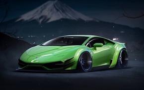 Picture Lamborghini, Power, Green, Tuning, Performance, Supercar, Liberty, Huracan, LP640-4, Walk, by Khyzyl Saleem