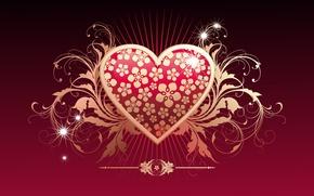 Wallpaper vector, love, heart