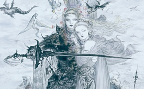 Picture figure, Final fantasy, final fantasy v, love faris, Yoshitaka Amano