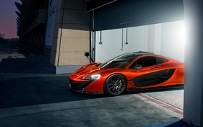 Picture McLaren, Orange, Race, Front, Beauty, Supercar, Track, Ligth, Nigth