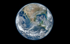 Picture space, planet, Earth, continents, hemisphere, oceans