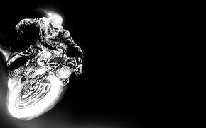 Wallpaper spirit of vengeance, the bare bones, art, ghost rider, motorcycle, racer, figure, Ghost rider 2