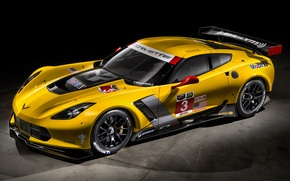 Picture Corvette, chevrolet, yellow