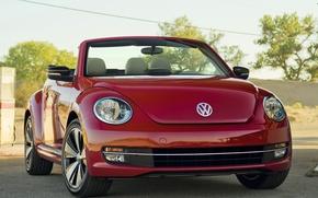 Picture red, Volkswagen, convertible, Beetle
