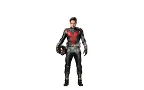 Picture fiction, costume, white background, helmet, superhero, marvel, comic, Ant-man, Paul Rudd, Paul Rudd, Ant-Man