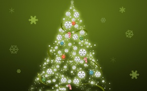 Picture Wallpaper, tree, picture, year, new
