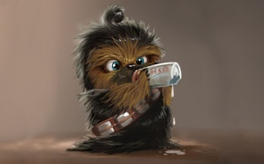 Picture childhood, milk, star wars, star wars, Chewbacca