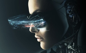 Picture look, girl, fiction, technology, cyborg, sci-fi