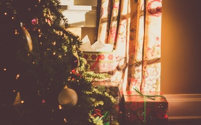 Picture holiday, tree, new year, gifts