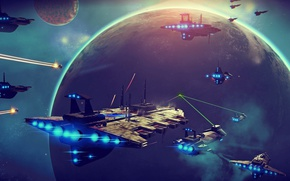 Picture sky, planets, planet, starship, starships, nms, no mans sky, starbattle