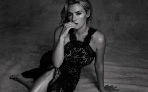 Picture photo, actress, black and white, Kate Winslet, Kate Winslet, The Edit, Chris Colls