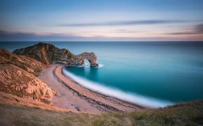 Picture sea, beach, rock, arch
