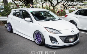 Picture turbo, white, mazda, japan, jdm, tuning, low, stance, mps