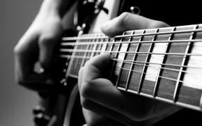 Picture guitar, hands, musician