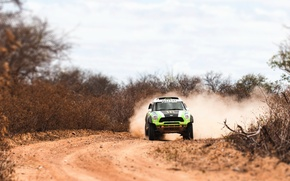 Picture race, Auto, Sport, Green, Machine, Day, Jeep, Lights, Mini Cooper, Rally, Dakar, SUV, MINI, Mini …