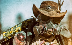 Wallpaper face, style, background, hat, steampunk, male