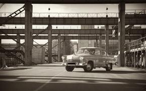 Wallpaper machine, retro, Wallpaper, plant, gas, Volga