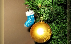 Picture background, holiday, toys, new year, ball, tree, Christmas decorations, Christmas decorations, boots