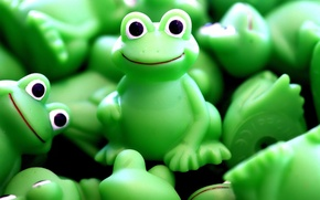 Wallpaper toy, green, frog