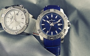 Picture silver, blue, two, watch, Jack Pierre