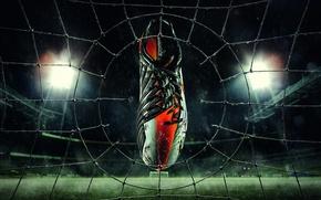Picture Cleats, Football, Field, rain, Mesh, Gate, Sneakers, Nike
