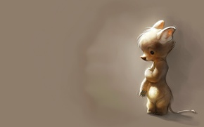 Picture mood, mouse, baby, art, children's, Therese Larsson