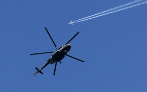 Picture Russia, BBC, Air Force, helicopter, Russia, Helicopter, Mi-8, Mi-17, Mi-8, Mi-17, 800, AMTSH, AMTSH, Boeing-737