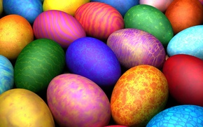 Picture pattern, color, Easter, Eggs