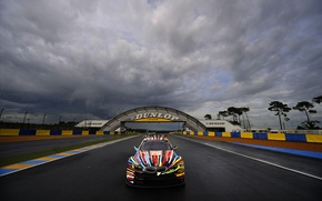 Picture bmw, track, spoiler, colors