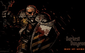 Picture RPG, Darkest Dungeon, Red Hook Studios, Man-at-arms