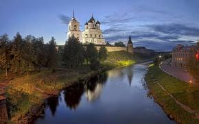 Picture the city, the Kremlin, Pskov