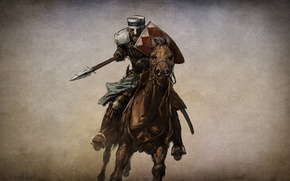 Picture horse, the game, warrior, art, knight, it, action, role, RPG., Mount & Blade, the story …