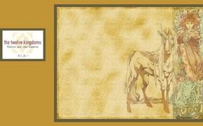 Picture figure, unicorn, art, headdress, unicorn, Youko Nakajima, Shouryu, the Twelve Kingdoms, Akihiro Yammada, 12 Kingdoms