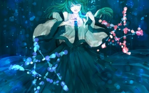 Picture girl, magic, touhou, art, kochi have done the art, minase