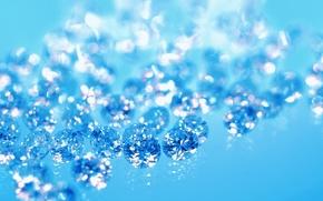 Picture blue, diamonds