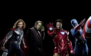 Picture Robert Downey Jr., Robert Downey Jr., Chris Evans, comic, The Avengers, The Avengers, Tony Stark, ...