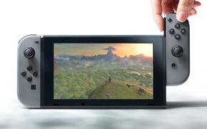 Wallpaper game, Nintendo, screen, joystick, video game, console, hardware, technology, Nintendo Switch
