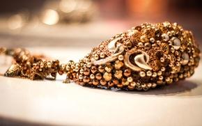 Picture macro, gold, jewelry, suspension, dragocennost