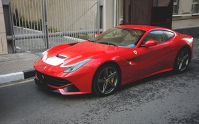Picture Ferrari, red, berlinetta, F12