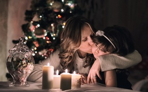 Picture love, Christmas, kiss
