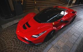 Picture red, supercar, Ferrari LaFerrari