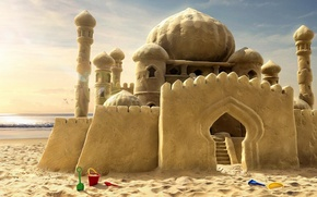 Wallpaper castle, dreams, sand