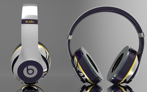 Picture apple, headphones, Headphones, Beats