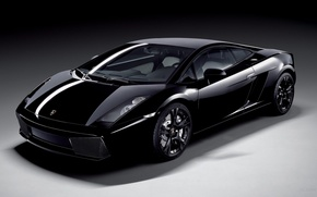 Wallpaper black, Lamborghini Gallardo Black